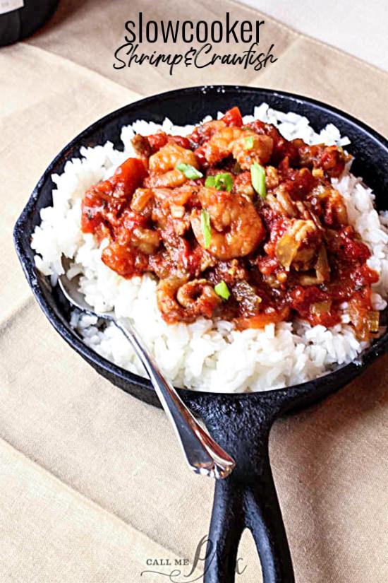 Slowcooker Crawfish & Shrimp
