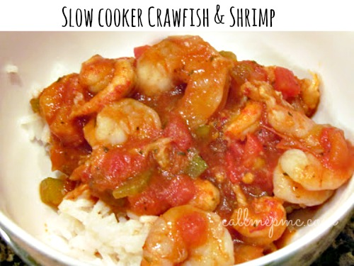 slowcooker crawfish and shrimp #callmepmc