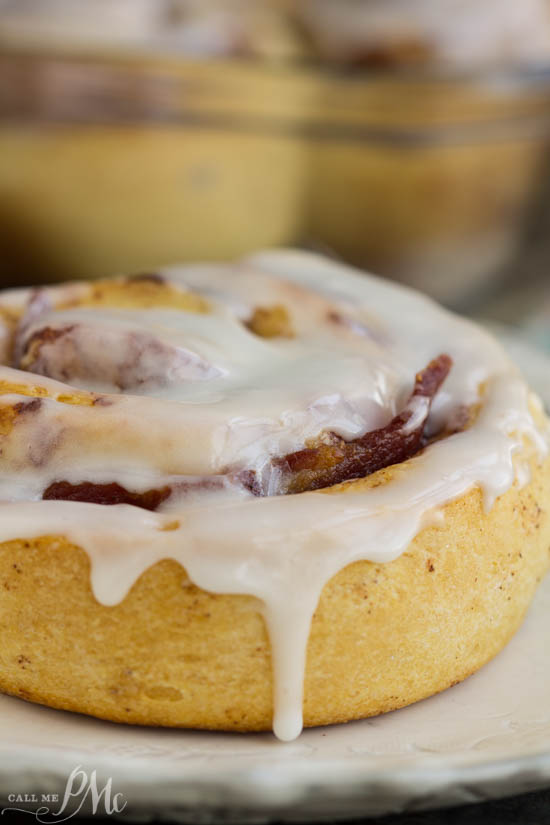 Bacon Cinnamon Rolls are the perfect combination of savory and sweet. A new twist of a comfort food favorite, traditional cinnamon rolls are paired with smokey bacon for a super easy breakfast.