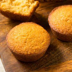 Homemade Warm Cornbread Muffins Ready to Eat