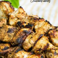 These Sweet Heat Chicken Kabobs are bursting with flavor. Juicy and tender, this chicken is perfect for tailgating or a cookout. #chicken #kabobs #grilled #sweetheat