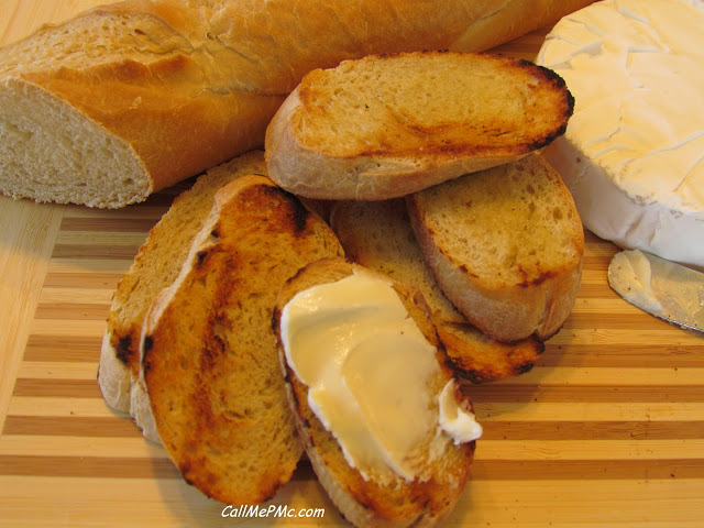 Elegant Appetizer Brie And Toasted Baguette Call Me PMc