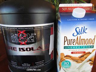 protein powder and almond milk