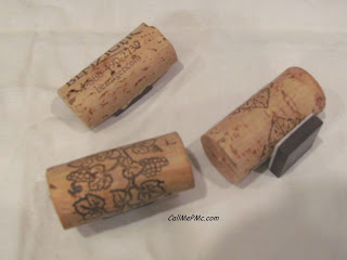 Wine Cork Craft ~ Refrigerator Magnets