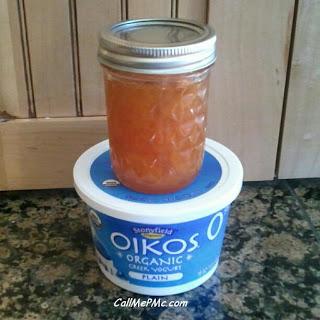 preserves and Greek yogurt