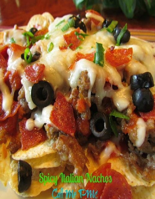 spicy italian Nachos