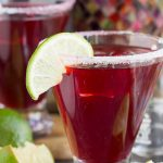 A festive twist on a classic cocktail, this Skinny Pomegranate Margarita is sure to become your new favorite cocktail.   This is a gorgeous, delicious, and refreshing drink recipe that doesn't have to be reserved for the holidays!