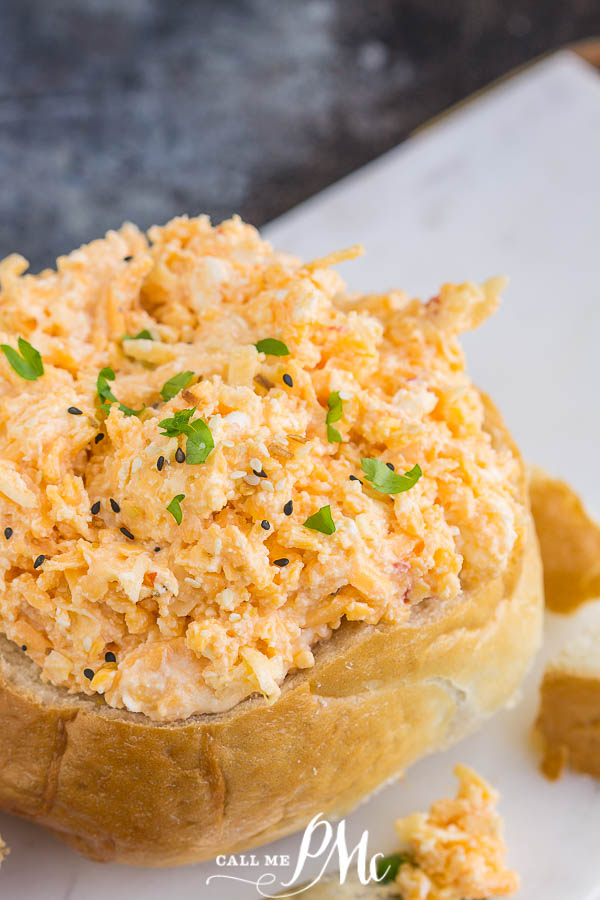 3 Cheese Pimento Cheese is a creamy, tangy spread recipe made with three freshly grated kinds of cheese and pimentos. #spread #recipe #Southernrecipes #callmepmc #cheese #pimentocheese