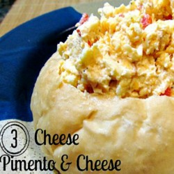 3 Cheese Pimento Cheese recipe is a versatile recipe. It's great as a dip or spread, top your burger or salad, mix into soups, or top mashed potatoes with it. Creamy and tangy, you'll love this 3 Cheese Pimento Cheese recipe!