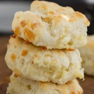 Blue Cheese Biscuits are a delicious, cheesy twist on the classic Southern biscuit. This biscuit recipe is tender and flaky. They make the perfect savory bread to accompany any meal.