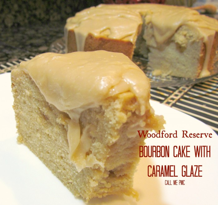 Woodford Reserve Bourbon Cake with Caramel Glaze offers a rich, bold flavor of bourbon, this cake is not for the faint of heart!