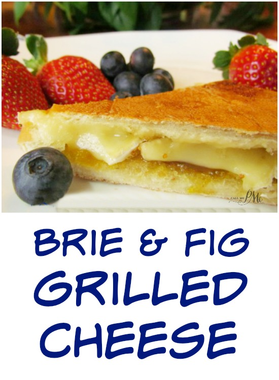 Brie Fig Grilled Cheese - Gourmet grilled cheese sandwich oozing with melted brie cheese and fig preserve nestled between buttery bread!