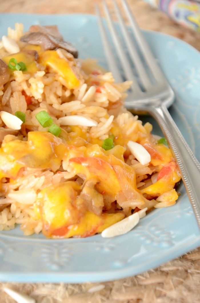 This Extreme Rice has an amazingly rich flavor from the French onion soup, mushrooms, and pimentos. It's an easy, side dish that goes perfectly with chicken, beef, and fish. This one-pan dish is a delicious meal side.