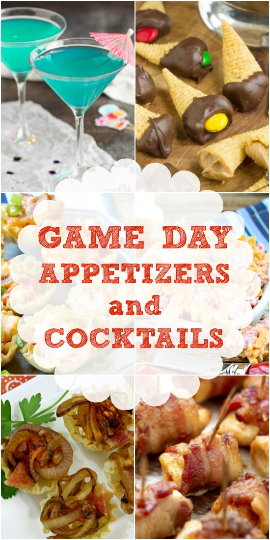 Fun Appetizers and Cocktails for Game Day, tailgating, watch parties, and potlucks. Start the football season off right with these fan favorites