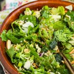 Oriental Salad with Sweet & Sour Dressing is crunchy, flavorful, easy to make, and full of nutrients!