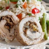 This tender and juicy Bacon and Pear Stuffed Pork Loin are bursting with flavors of garlic, herbs, and fruit.It's grand, elegant, and perfect for entertaining.