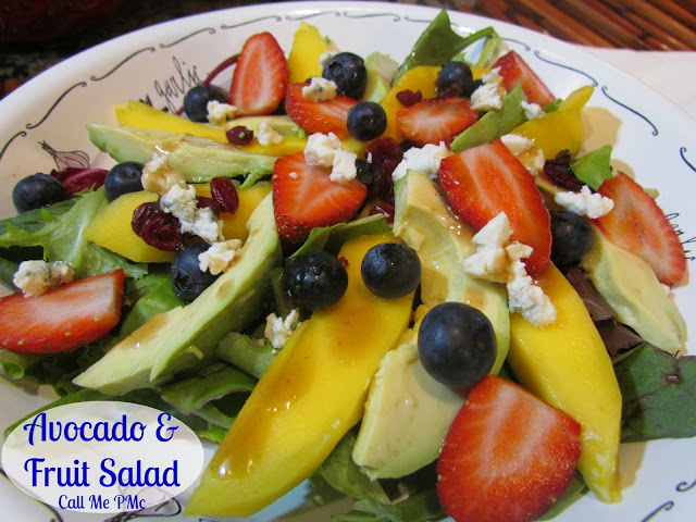 Avocado & Fruit Salad with Cranberry Vinaigrette