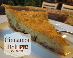 Cinnamon Roll Pie #CinnamonRoll #pie #callmepmc