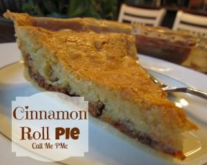 Cinnamon Roll Pie #CinnamonRoll #pie #callmepmc