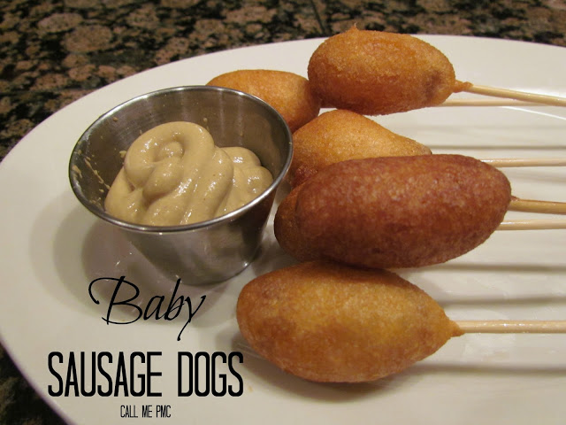 Baby Sausage Corndogs using Lil' Smokie Sausage
