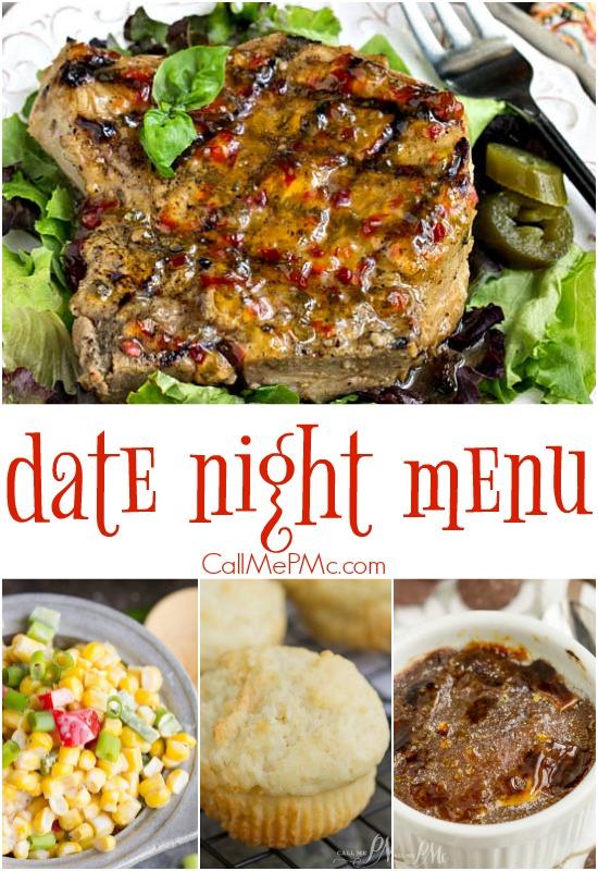 Date night menu Valentine Dinner