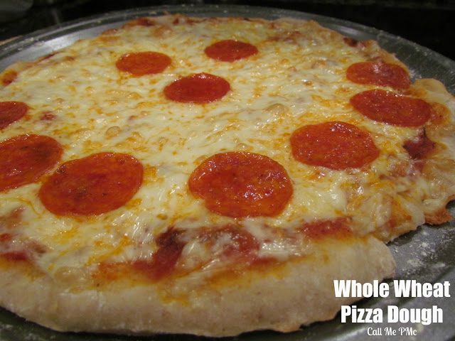 Whole Wheat Pizza (ou can't tell it whole wheat by taste - GREAT for kids!) #pizza #pizzadough