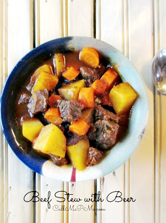 This rich and delicious Beef Stew with Beer is cooked slowly until the beef is tender and falling apart. This soup makes a savory, quick and delicious meal any day of the week.