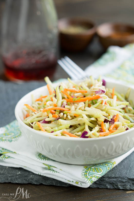 recipe, slaw, healthy. This Broccoli Salad Recipe will be your favorite healthy staple for cookouts, potlucks, tailgates, and pool parties this summer. You name it and this salad is a great salad to take.