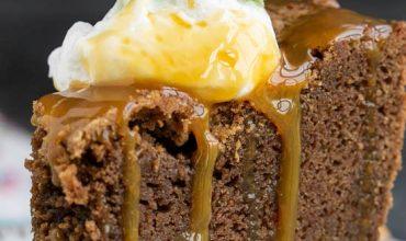Irish Cream Chocolate Pound Cake Trifle with Irish Cream Caramel Sauce