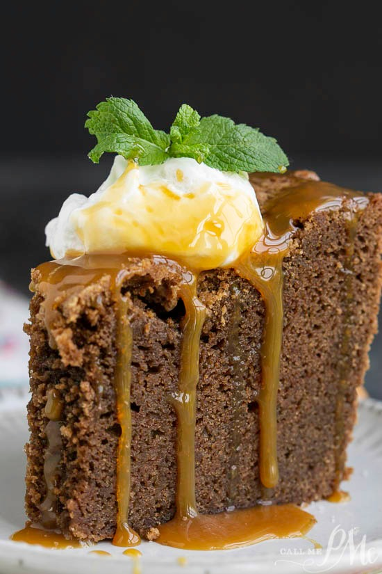 Irish Cream Chocolate Pound Cake Trifle with Irish Cream Caramel Sauce