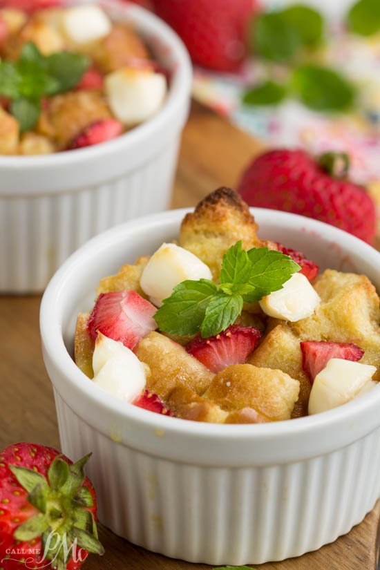 Super easy Strawberry Stuffed French Toast Casserole is stuffed with strawberries and cream cheese. It's an easy and delicious breakfast bake!