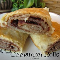 Old Fashion No Yeast Cinnamon Rolls