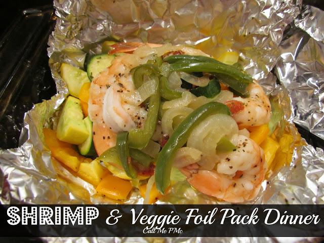 Healthy Shrimp and Vegetable Foil Pack Dinner www.callmepmc.com #callmepmc