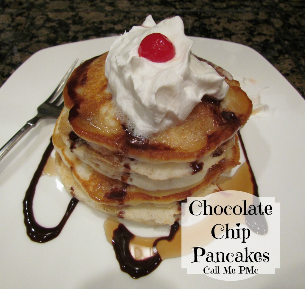 Chocolate Chip pancakes #chocolatechip #breakfast