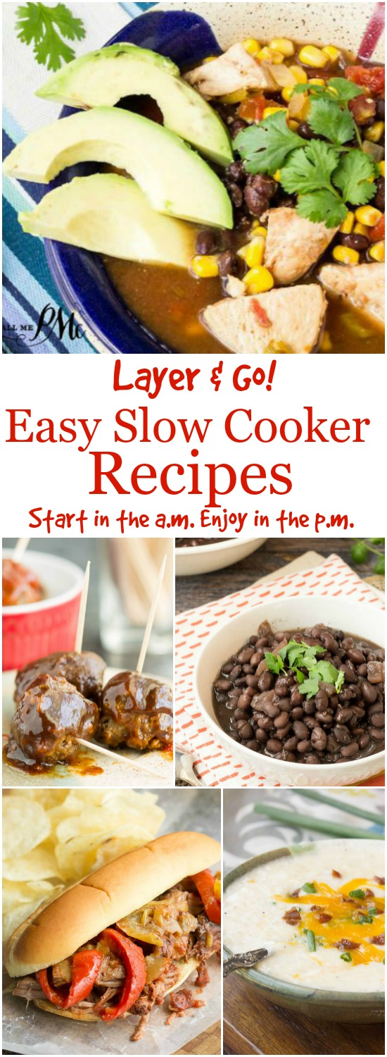 Easy Slow Cooker Recipes from Call Me PMc use your slow cooker for the convenient and enjoy the comforting meals it provides!