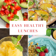 HEALTHY LUNCHES for quick, easy, and healthy lunches and snacks. I've rounded up some of the healthiest, most delicious lunches out there. #recipes #lunch #easy #healthy #fruit #roundup