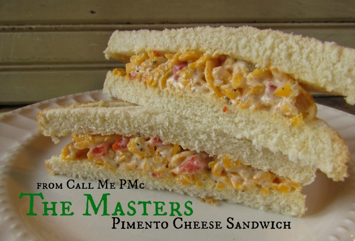 Masters Pimento Cheese sandwich call me pmc https://www.callmepmc.com/2013/04/my-day-at-the-masters-and-the-masters-famous-pimento-cheese-sandwich/ #callmepmc #tailgating