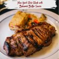 BALSAMIC BUTTER SAUCE OVER NEW YORK STRIP STEAKS