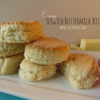Scratch buttermilk Biscuits in the Food Processor