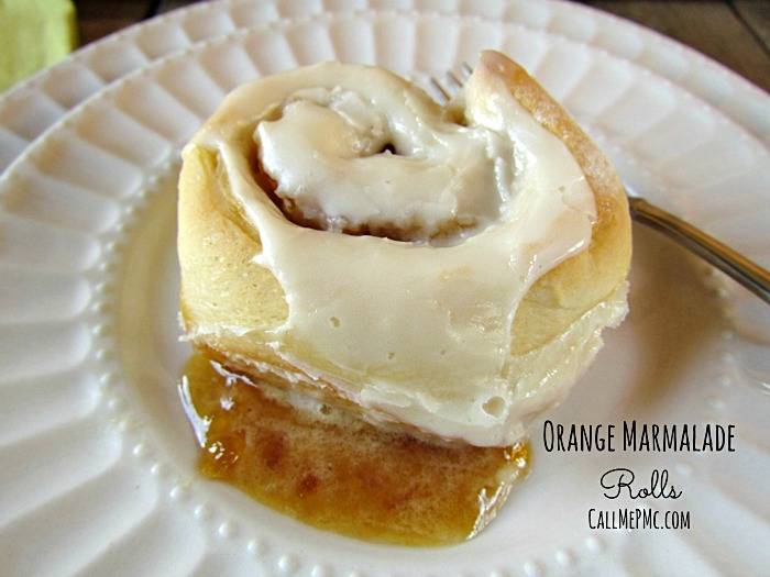Orange Marmalade Rolls cinnamon rolls filled with orange marmalade, awesome breakfast recipe