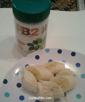 bananas and PB2