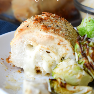 Cheese Stuffed Chicken Breasts, this ridiculously delicious dinner recipe is surprisingly easy to prepare! It's lower in carbs and takes only about 10 minutes to prepare. #chicken #recipe #cheese #stuffedchicken #dinner #familyfavorite #easy