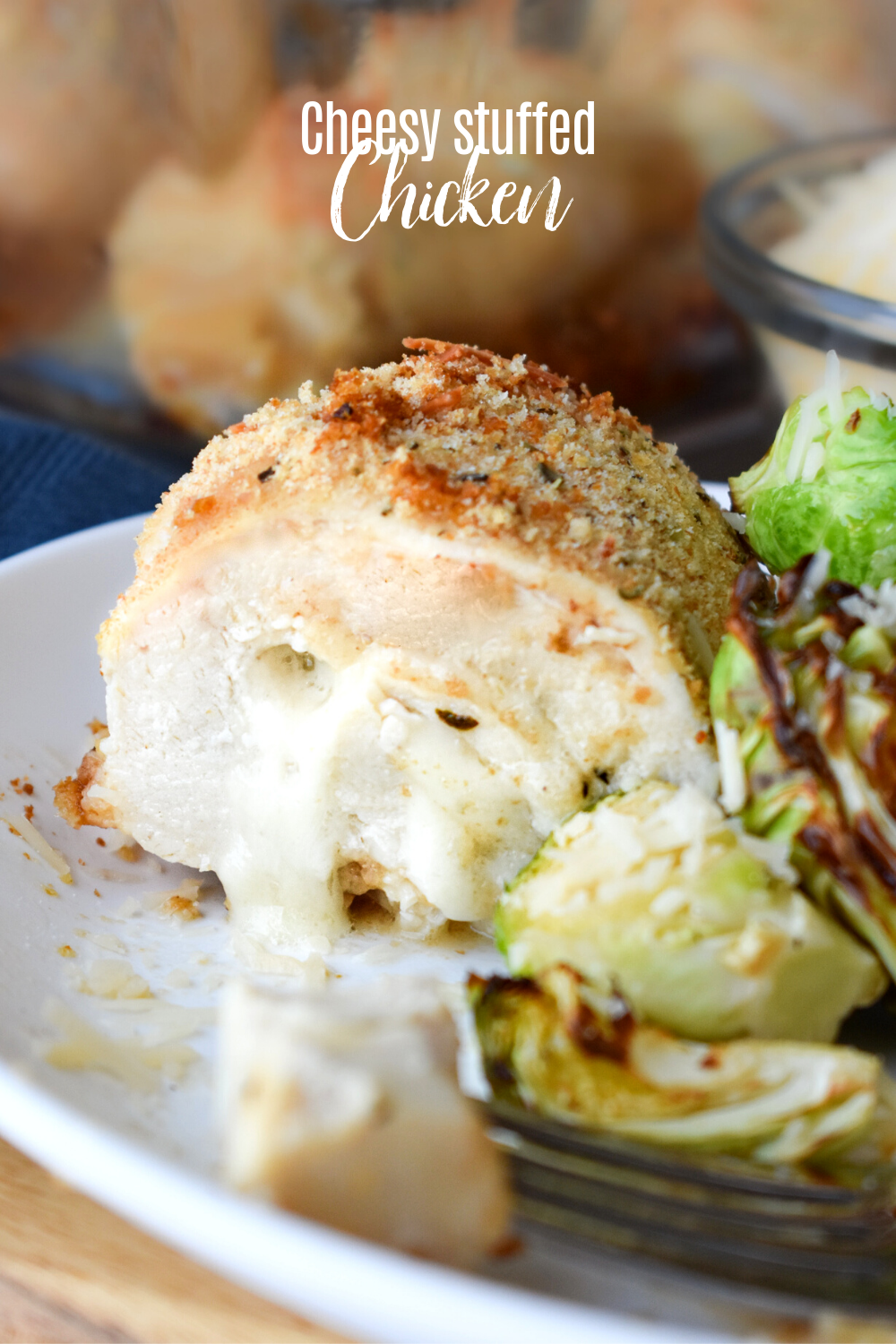 Cheese Stuffed Chicken Breasts, this ridiculously delicious dinner recipe is surprisingly easy to prepare! It's lower in carbs and takes only about 10 minutes to prepare. #recipe #stuffedchicken #familyfavorite #easy #chicken #cheese #dinner #baked #lowcarb #keto #Italian via @pmctunejones