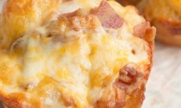 SHORT-CUT BACON AND CHEESE ROLLS