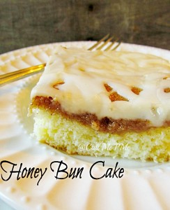 Honey Bun Cinnamon Roll Cake