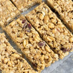 Copycat Kashi Granola Bar Recipe is a healthier, sweet, salty, flavorful, on-the-go snack or breakfast! Homemade granola bars are also much cheaper than store-bought granola bars.