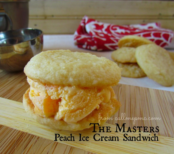 Peach Ice Cream Sandwich The Masters