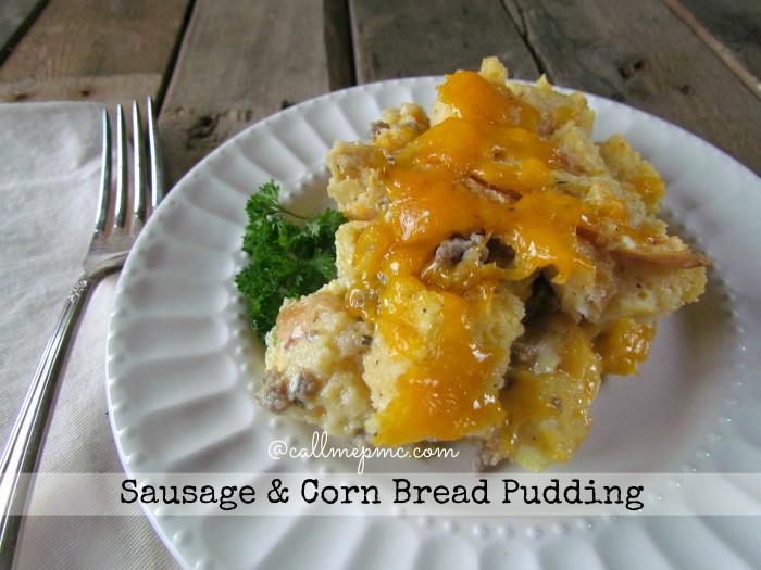 Sausage & Corn Bread Pudding #Southern #classic #sausage #corn #breadpudding