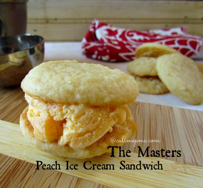 Peach Ice Cream Sandwich from The Masters #icecream #themasters #golf #cookies #callmepmc #desserts