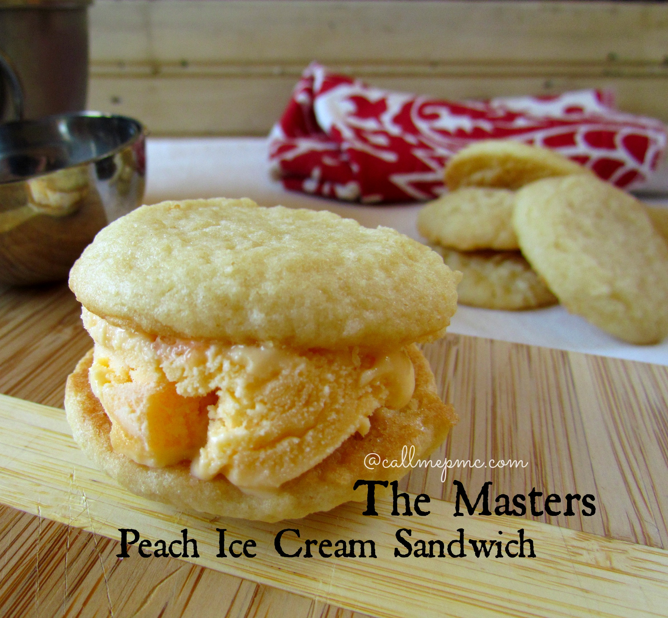 Georgia Peach Ice Cream Sandwich from The Masters » Call Me PMc